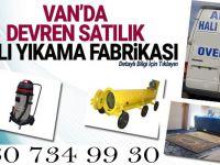 Van'da devren satılık halı yıkama fabrikası