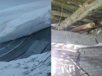 Hakkari'de Aşırı Yağan Kar Yağışı Nedeniyle Ahır Çöktü