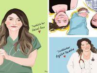 Sanatçılar sağlık çalışanlarının portrelerini çiziyor