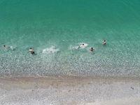 Van Gölü'ndeki mavi bayraklı halk plajı, yeni sezon için hazır