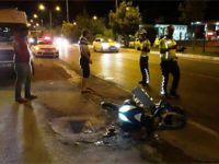 Otomobil elektrikli bisiklete çarptı: 4 yaralı