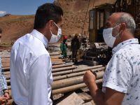 Vali Yardımcısı Kumbasar, sondaj çalışmalarını denetledi