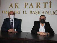 Atlı'dan Ak Parti İlçe Başkanı Demir'e tebrik ziyareti