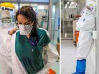 Korona savaşçıları, astronot gibi giyindikleri koruyucu kıyafetlerden sırılsıklam çıkıyorlar