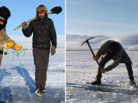 Eksi 25 derecede eskimo usulü balık avı
