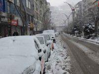 Hakkari'de kar kalınlığı 30 santim yollar kapandı