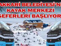 Hakkari belediyesinin kayak merkezi seferleri başlıyor