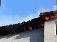 Hakkari'de korkutan yangın