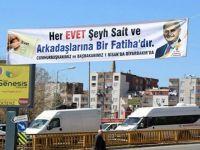 AK Parti'den, Şeyh Said'li pankart: Her 'Evet' bir Fatiha